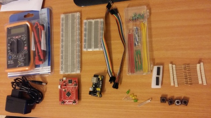 equipment and parts to build a robot